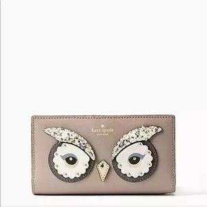 kate spade owl wallet NWT
